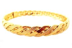 22K 23K 24K BA16 Thai Baht Yellow Gold GP Bracelet Bangle bythaishop,http://www.amazon.com/dp/B00DYVCX3Y/ref=cm_sw_r_pi_dp_ADi9rb0KB21B4FX6