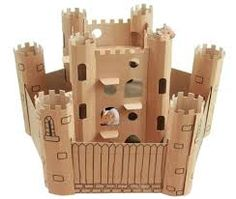Image result for card board box castle