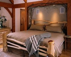 Rustic bed by Moochiemomma