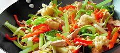 receta wok de verduras
