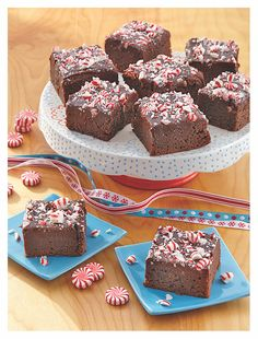 Peppermint-Fudge Brownies. Perfectly portable and delicious dessert for the holiday! Head over to Tablespoon for the recipe and make these bad boys- ASAP!