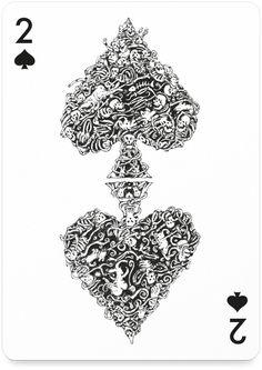 2 of Spades by Mattias Adolffson - http://playingarts.com/cards/mattias-adolfsson/