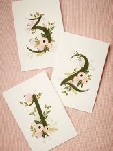 Rifle Paper Co. Table Numbers 1 - 15