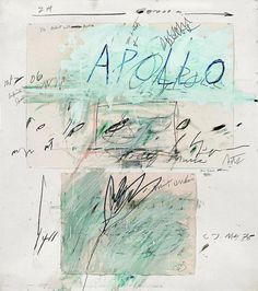 Cy Twombly, Apollo and the Artist, Roma, 1975.