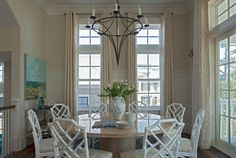 breakfast room ideas - white chairs