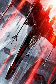 X-Wing Descending - by Raymond Swanland<br> 150 Piece Limited Edition...