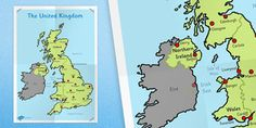 Geography teaching resources for Key Stage 1 - Year Year Created for teachers, by teachers! Year 2 Classroom, United Kingdom Map, Key Stage 1, Geography Lessons, Cardiff Wales, Primary Resources, Isle Of Man, Northern Ireland, Glasgow