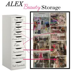 Ikea Alex Drawer Beauty Storage and Organization by jillybutter on Polyvore