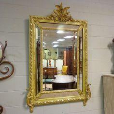 19th Century French Antique Wedding Mirror