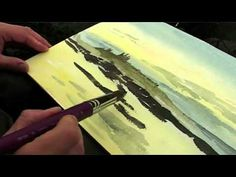 Artist Alan Reed Paints Dunstanburgh Castle. Tutorial on Plein Aire watercolor and what he carries to paint outside!