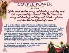 Gospel Power – Friday 2nd Week of Advent