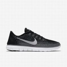 new style 18bdf 0e31e Nike Men s Black Dark Grey Wolf Grey White Free RN Distance Running Shoe
