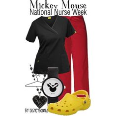 Mickey Mouse Nurse, created by lalakay on Polyvore #disney