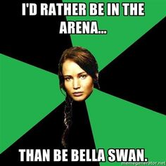 I'd rather be in the arena....