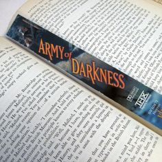 Army of Darkness Bookmark  Recycled VHS by StalkingMarla on Etsy