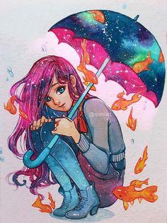Rain, by Qinni
