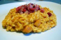 La Tarantolata: risotto con zucca, mele e speck