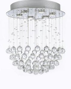 This beautiful Chandelier is trimmed with Empress Crystal(TM) 100% CRYSTAL CHANDELIER. A excellent crystal fixture for your foyer, dining room, living room and Contemporary Chandelier, Contemporary Decor, Modern Decor, Crystal Chandelier Lighting, Crystal Lamps, Glass Crystal, Faceted Crystal, Crystal Ball, Luxury Chandelier