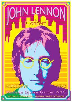 JOHN LENNON - Madison Square Garden, New York 30 August 1972