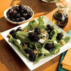 Wilted Spinach, Blackberry and Goat Cheese Salad Recipe