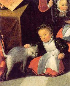 L'Artiste et sa famille (detail), 1584 - Otto Van Veen -  Oil on canvas - Musee du Louvre, Paris