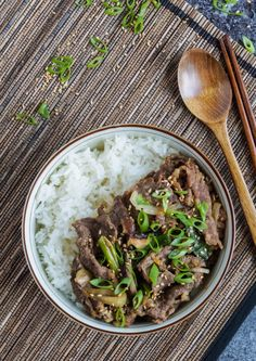 Bulgogi Dupbap (Korean Soy Garlic Beef over Rice) (1 of 3)