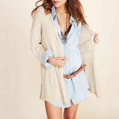 "HPNEW Gorgeous Long Denim Jacket/Dress Brand new with tag. Length 32"" . Belt is not included. NO TRADE M's Boutique Jackets & Coats Jean Jackets"