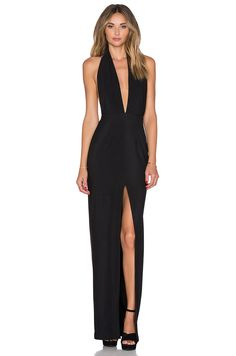 SOLACE London Aeryn Maxi Dress in Black | REVOLVE