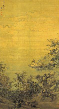 Xiè Shíchén(謝時臣) , 明 谢时臣 谪仙玩月图