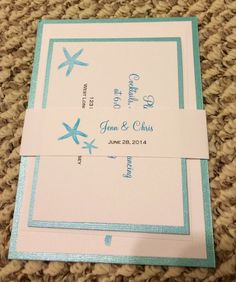 Our amazing invites from Leslie's Card Art on Etsy!!!