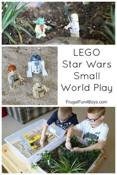 LEGO Star Wars Small World Play - Simple Tatooine tub and Endor tub for use with mini figures!