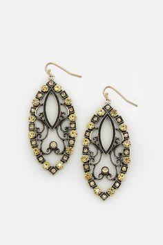 Andrea Statement Earrings in Colorado Topaz