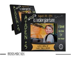 FIRST Day of Kindergarten 8 x 10 Frame by AndersMarcKids on Etsy, $22.00