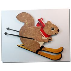 JMRush Designs: Stacked Winter Squirrel Ski Card