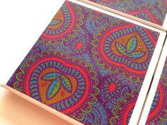 Moroccan Coasters, Moroccan Print, Moroccan Tile, Tile Coasters, Purple Moroccan Art, Middle Eastern, Moroccan Furniture