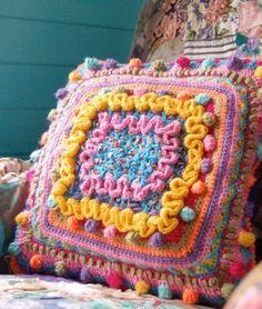 close up of same loved cushion!
