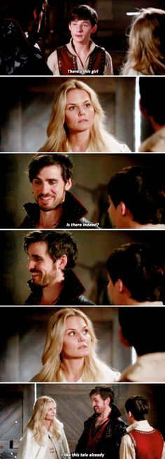 """I like this tale already"" - Henry, Emma and Hook (Hahahaha Killian's reaction) #OnceUponATime"