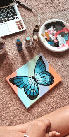 Small Canvas Paintings, Easy Canvas Art, Small Canvas Art, Cute Paintings, Mini Canvas Art, Diy Canvas, Acrylic Painting Canvas, Diy Painting, Ideas For Canvas Painting