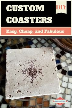 Churn out piles of these inexpensive custom coasters for pennies. See how easy it can be with our quick DIY tutorial! #DIY #tile #coasters #tilecoasters #gifts #holidaygifts #teachergifts #tutorial #coastal