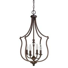 Shop for Capital Lighting Leigh Collection 4-light Burnished Bronze Foyer Fixture. Get free shipping at Overstock.com - Your Online Home Decor Outlet Store! Get 5% in rewards with Club O!