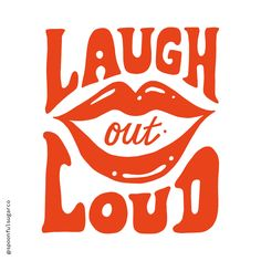 Want to put yourself in a happy mood all day? The new Laugh out loud t-shirt has been designed just for you! Made from 100% white cotton, the fun Laugh out loud design is based on my original, hand drawn typography and is printed in a super bright reddy orange. Available in 3 sizes (small, medium