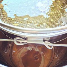berlinerstadthonig | 2015 Honig filtern / Extracting beeswax from the honey
