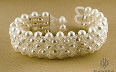Pearls in the net bracelet by ~Fleur-de-Irk on deviantART