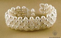 Pearls in the net bracelet by ~Fleur-de-Irk on deviantART