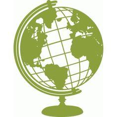 Silhouette Design Store - View Design #51187: globe