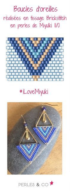 Boucles d'oreilles tissage brickstitch Miyuki Delicas - Old Tutorial and Ideas Seed Bead Jewelry, Seed Bead Earrings, Beaded Earrings, Diy Jewelry, Jewelry Accessories, Handmade Jewelry, Fashion Jewelry, Jewellery, Seed Bead Tutorials