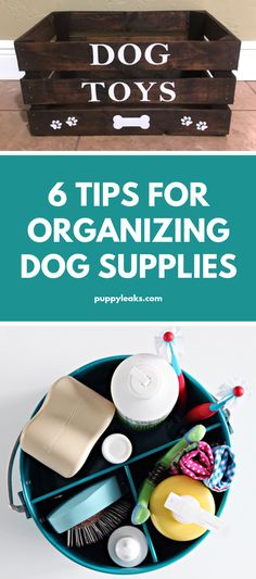 If you have pets it can be a challenge to keep your house clean and clutter free. Dog Toys, medications, grooming supplies, food - thats a lot of stuff to keep organized. Luckily there are some easy ways to keep all your dog supplies organized. Luckily t Diy Tumblr, Online Pet Supplies, Dog Supplies, Dog Grooming Supplies, Grooming Kit, Dog Toy Box, Dog Organization, Diy Dog Toys, Toys For Dogs
