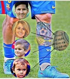 Uno de los detalles de los tatuajes de Messi