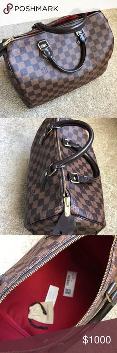 Brand New - Real deal LV Speedy bag 30 Brand New - Real deal LV Speedy bag 30 - bought it 6 months ago - used it once and just wasnt my style - please dont low ball me! I am willing to negotiate on price Louis Vuitton Bags Satchels