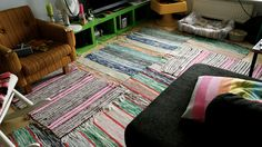 colorful carpets in living room